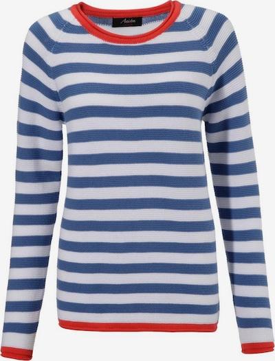 Aniston CASUAL Pullover in blau / hellrot / weiß, Produktansicht