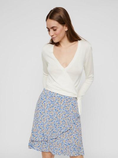 PIECES Wickelbluse in weiß, Modelansicht