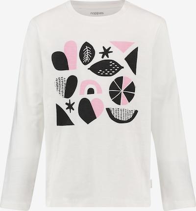 Noppies Shirt 'Pinole' in rosa / schwarz / weiß, Produktansicht