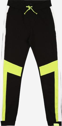 NAME IT Hose 'Karno' in neongrün / schwarz / weiß, Produktansicht