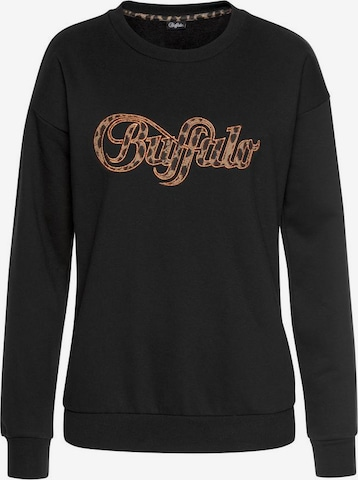 BUFFALO Sweatshirt in Schwarz
