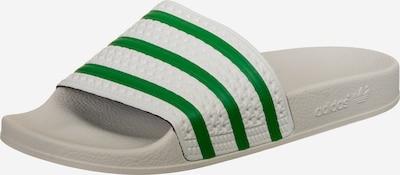 ADIDAS ORIGINALS Muiltjes 'Adilette' in de kleur Lichtgrijs / Groen, Productweergave