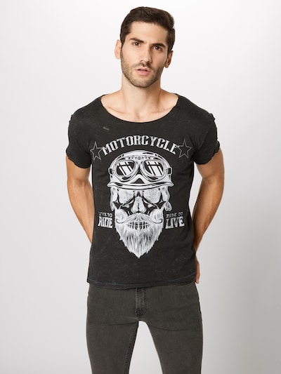 Marškinėliai 'MT BEARDED BIKDER' iš Key Largo , spalva - juoda: Vaizdas iš priekio