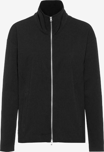 Scheck Sweatjacke in schwarz, Produktansicht