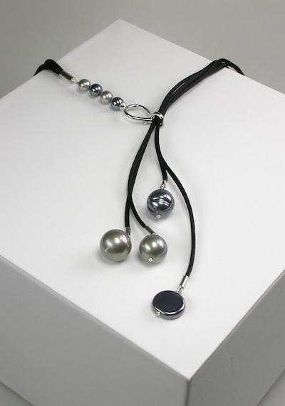 Orquidea Perlenkette 'Fantasy' in grau / schwarz, Produktansicht