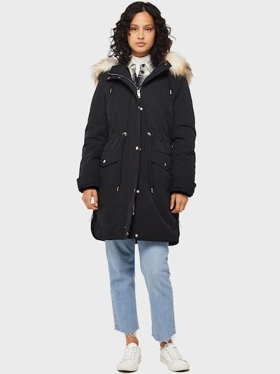 Miss Selfridge Ziemas jaka ar apkakli pieejami melns: Priekšējais skats