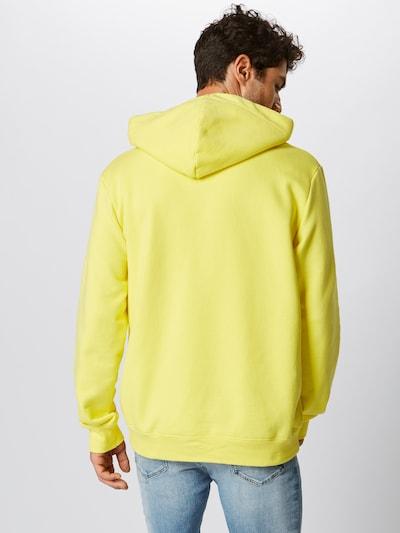 ABOUT YOU X PARI Hoodie 'Mick' in gelb / schwarz / weiß: Rückansicht