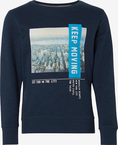 TOM TAILOR Sweatshirt in blau / nachtblau / weiß, Produktansicht