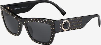 VERSACE Sonnenbrille in schwarz: Frontalansicht