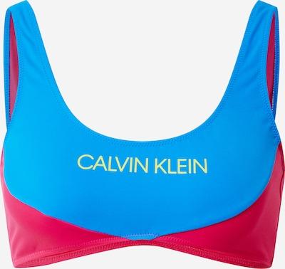 Sutien costum de baie Calvin Klein Swimwear pe albastru royal / galben / magenta, Vizualizare produs