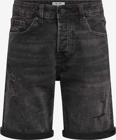 Only & Sons Shorts 'AVI' in black denim, Produktansicht