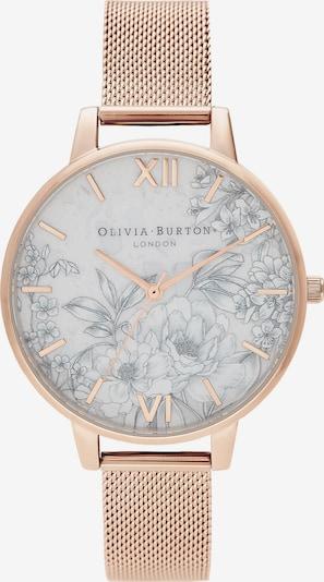 Olivia Burton Uhr in rosegold / grau / weiß, Produktansicht