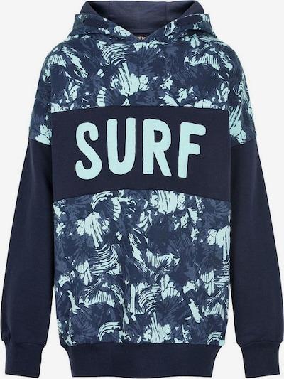 Me Too Sweatshirt in marine / nachtblau / hellblau, Produktansicht
