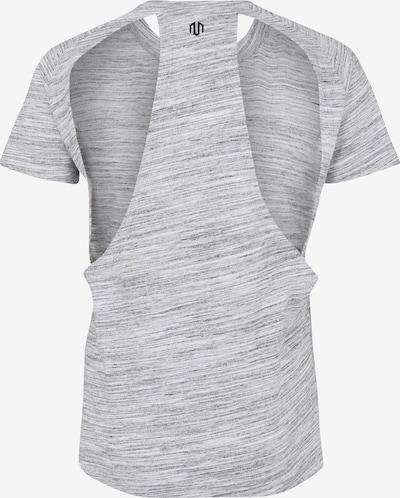 MOROTAI Sport-Shirt 'NAKA Performance Basic Eye' in grau / schwarz: Rückansicht