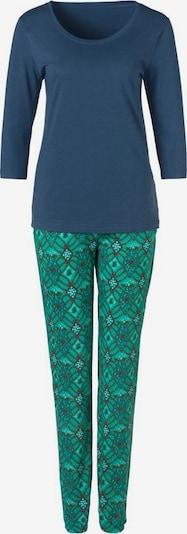 s.Oliver Pyjama in taubenblau / hellgrün / mischfarben, Produktansicht