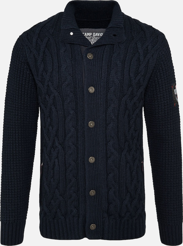 CAMP DAVID Cardigan in navy, Produktansicht
