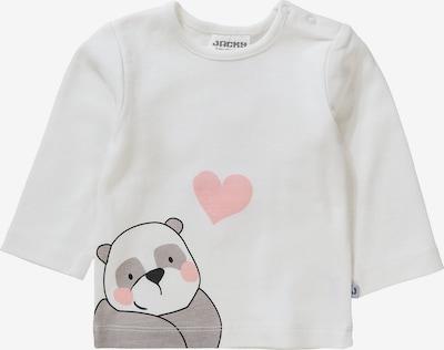 JACKY Langarmshirt in hellgrau / rosa / schwarz / weiß, Produktansicht