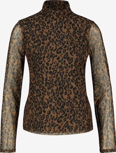 GERRY WEBER Shirt in de kleur Lichtbruin / Donkerbruin / Zwart, Productweergave