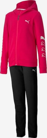 PUMA Trainingsanzug in pink / schwarz / weiß, Produktansicht