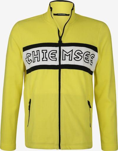 CHIEMSEE Sportsweatvest in de kleur Geel / Zwart, Productweergave