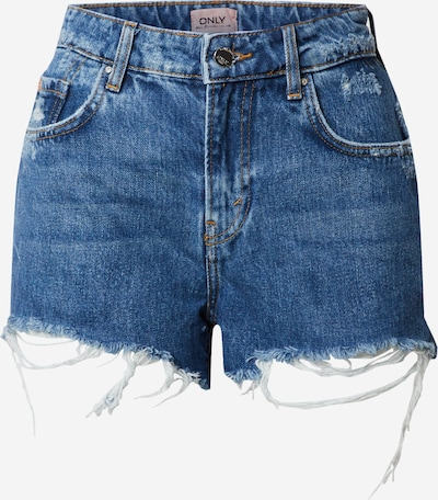 ONLY Shorts 'ONLCASSY LIFE MID SHORT RAW' in blue denim, Produktansicht