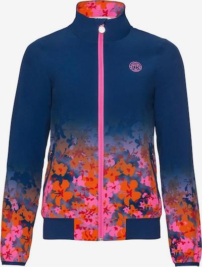 BIDI BADU Jacke Gene Tech Jacket mit floralem Muster in blau, Produktansicht