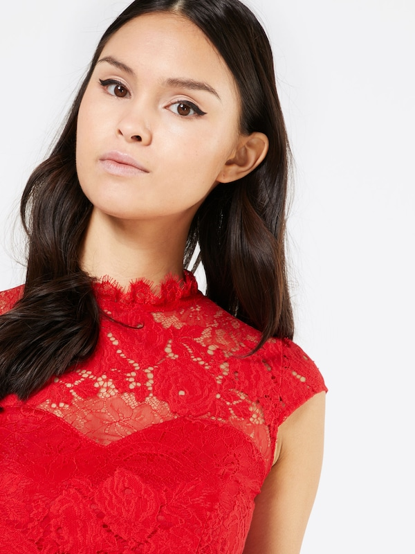 Lipsy Cocktailkleid 'WX RED LACE'