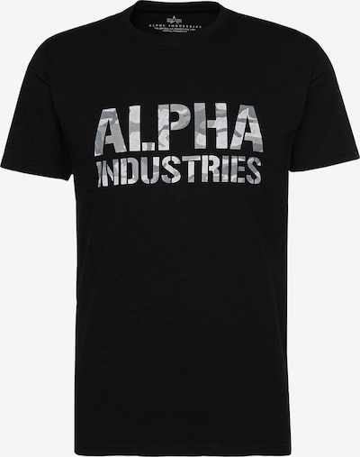 ALPHA INDUSTRIES T-Shirt 'Camo' in schwarz / weiß, Produktansicht