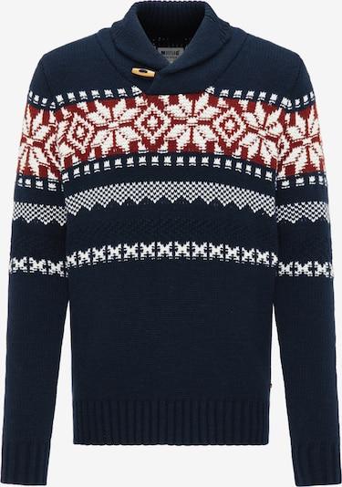 MUSTANG Pullover 'Emil' in nachtblau / rot / weiß, Produktansicht