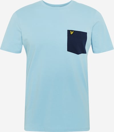 Lyle & Scott T-Shirt 'Contrast Pocket' in blau / navy / gelb, Produktansicht