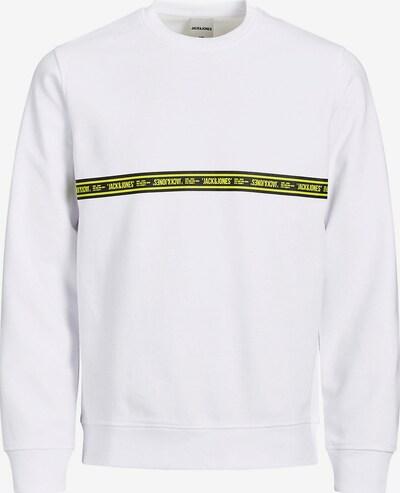 Jack & Jones Junior Sweatshirt in gelb / schwarz / weiß, Produktansicht