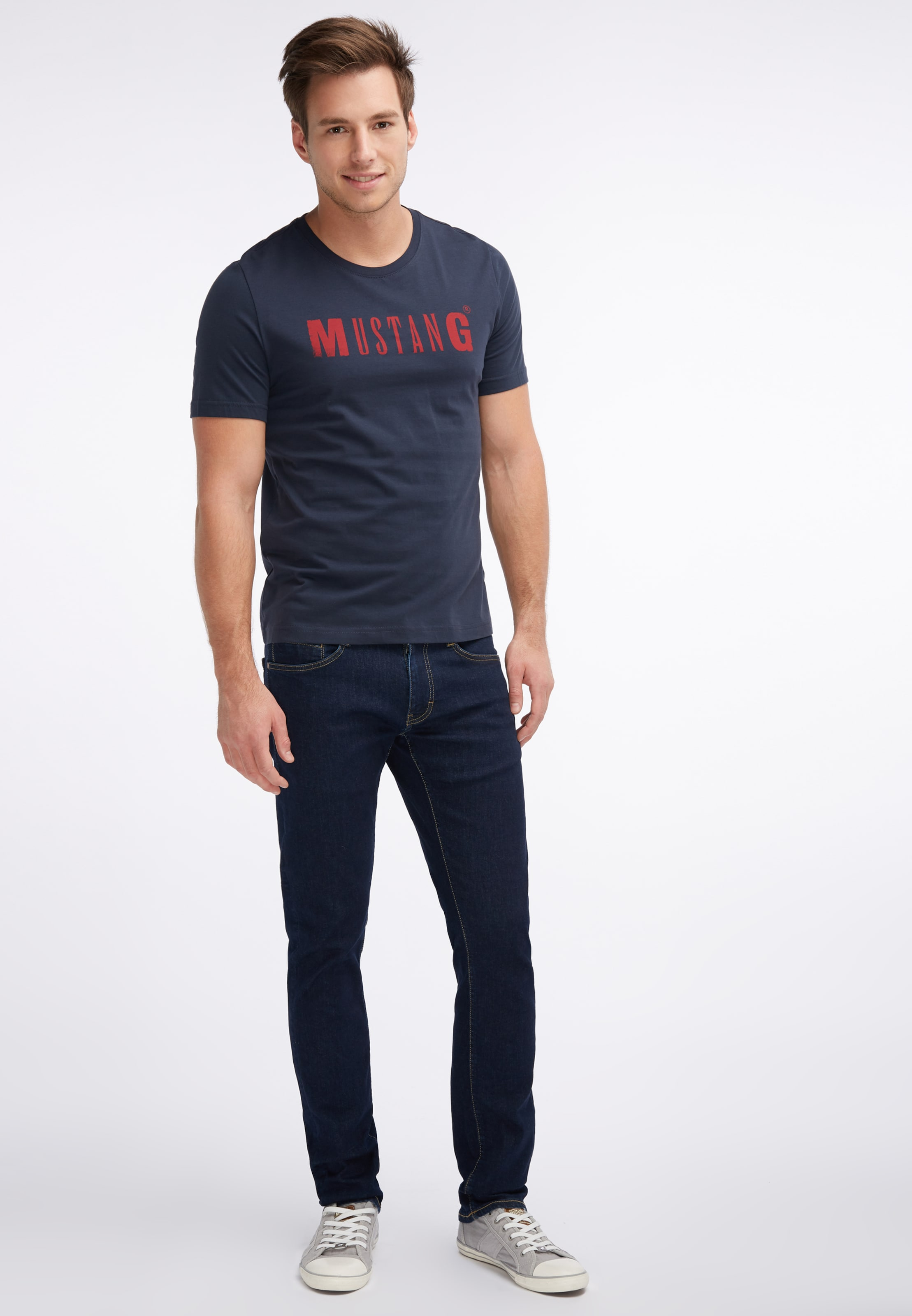 shirt NachtblauFeuerrot In shirt NachtblauFeuerrot Mustang In T T Mustang eDYIE9bWH2