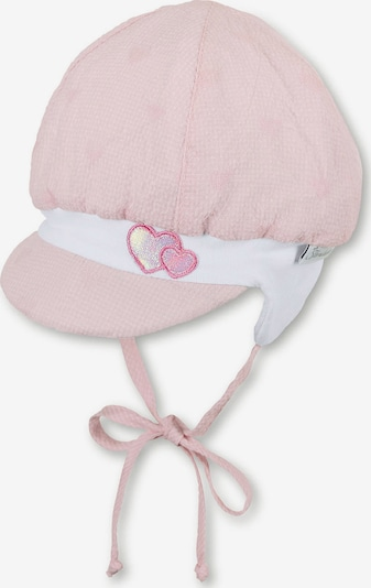 STERNTALER Ballonmütze in rosa / dunkelpink / silber / weiß: Frontalansicht