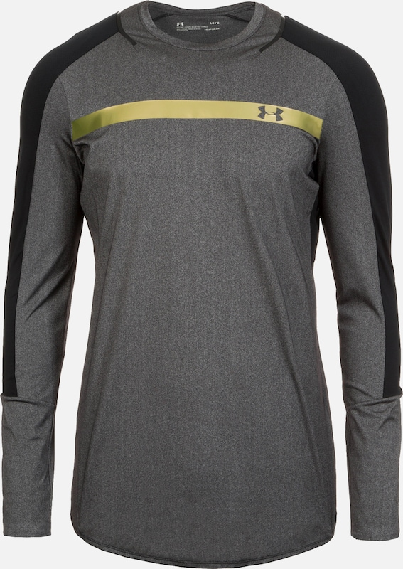 UNDER ARMOUR Trainingsshirt 'HeatGear Perpetual' in gold / grau, Produktansicht
