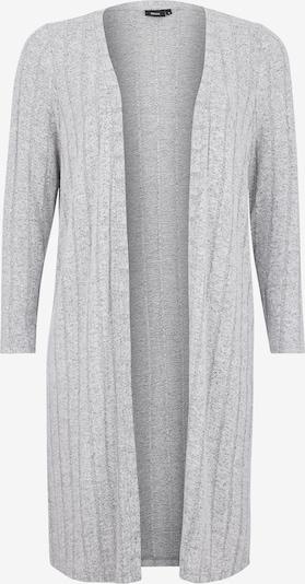 Zizzi Cardigan 'MLUNA' en gris chiné, Vue avec produit