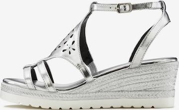 LASCANA Remienkové sandále - strieborná