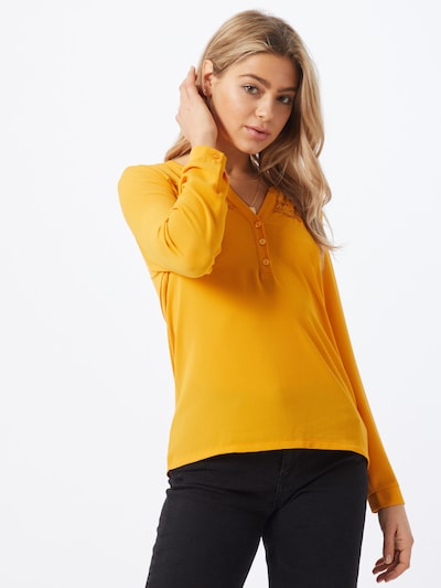 ABOUT YOU Blouse 'Line' in de kleur Geel / Mosterd, Modelweergave