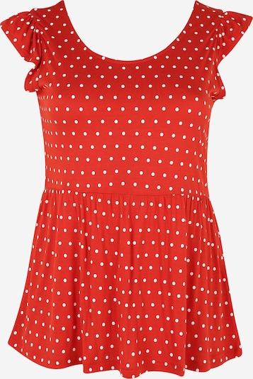 Vero Moda Curve Shirt in rot / weiß: Frontalansicht