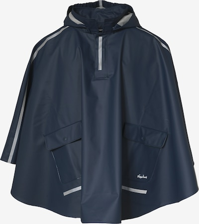 PLAYSHOES Kinder Regenponcho in dunkelblau / silber, Produktansicht