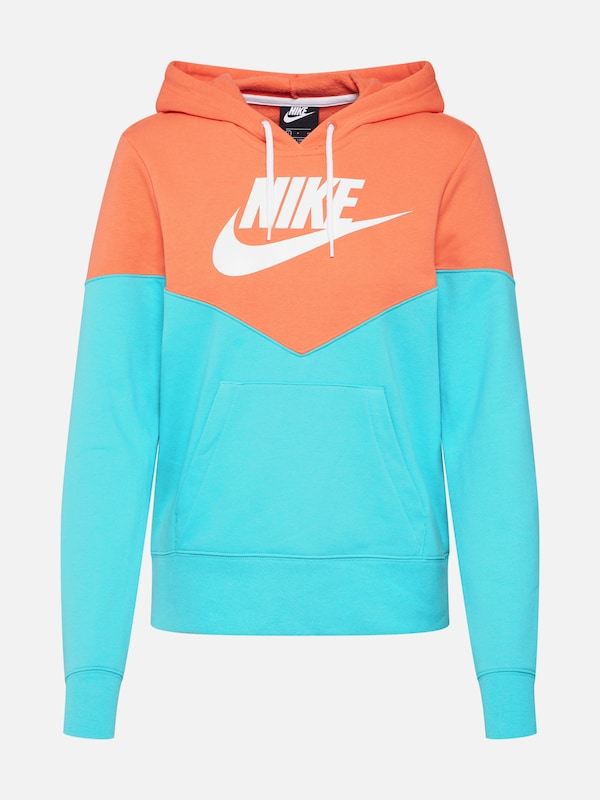 b485f157b98 Nike Sportswear Sweatshirt in Turquoise / Sinaasappel / Wit | ABOUT YOU