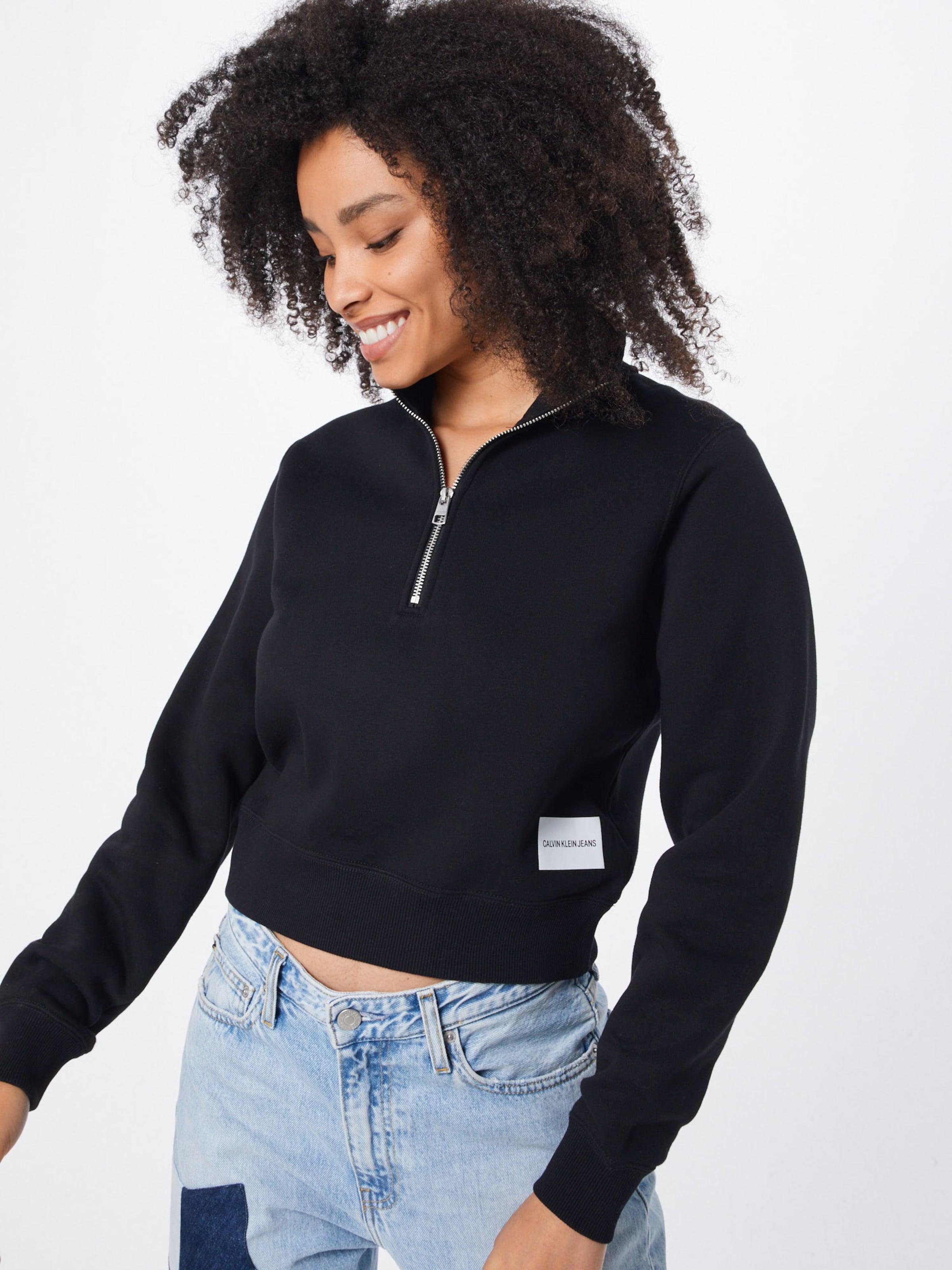 Schwarz Sweatshirt Jeans Calvin In Klein qARjL354