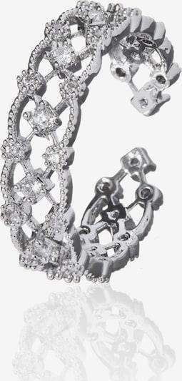 Zaza&lili Silberring 'R-Witty RH' in silber, Produktansicht