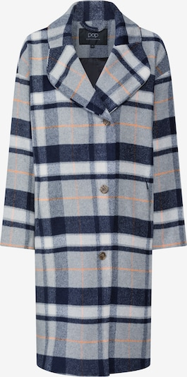 Pop Copenhagen Mantel 'Checked Cocoon Wool Coat' in blau / grau, Produktansicht