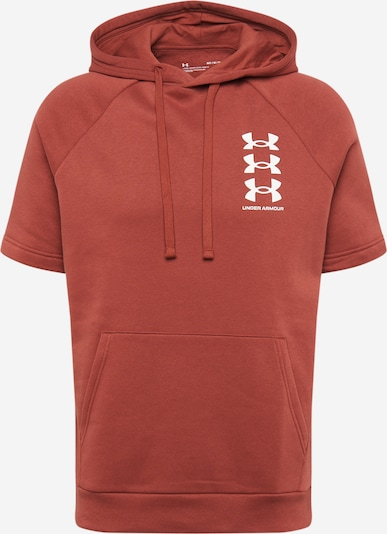 UNDER ARMOUR Sportsweatshirt 'UA Rival' in de kleur Wijnrood / Wit, Productweergave