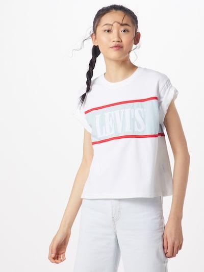 LEVI'S Koszulka 'CAMERON' w kolorze niebieski / białym, Podgląd na modelu(-ce)