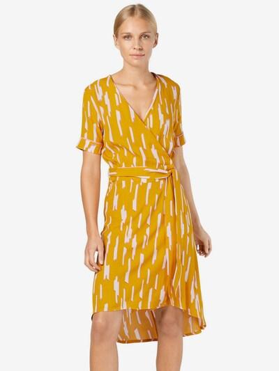 mbym Kleid 'Nude' in gelb / rosa / weiß, Modelansicht
