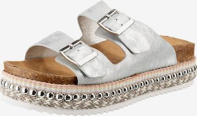 JANE KLAIN Pantoletten in silber, Produktansicht