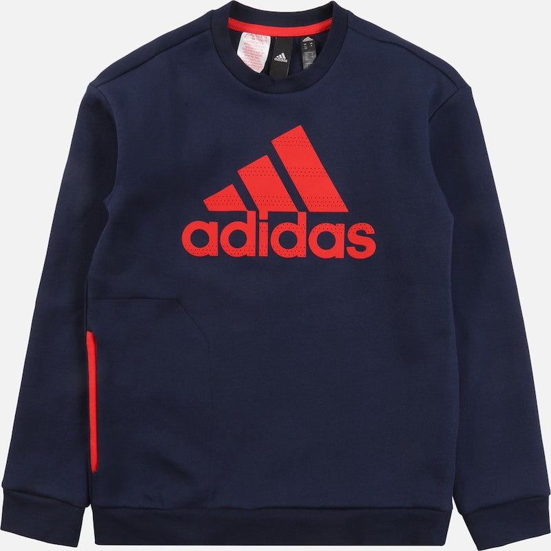 ADIDAS PERFORMANCE Pullover 'SPACER' in navy / rot, Produktansicht