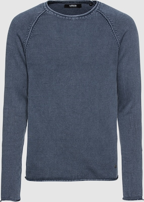 !Solid Trui 'Knit - Malvin' in Donkerblauw
