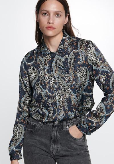 SEIDENSTICKER Hemdbluse in blau, Modelansicht